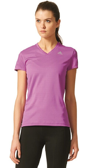 adidas Response Short Sleeve Women shock purple f16/reflective silver